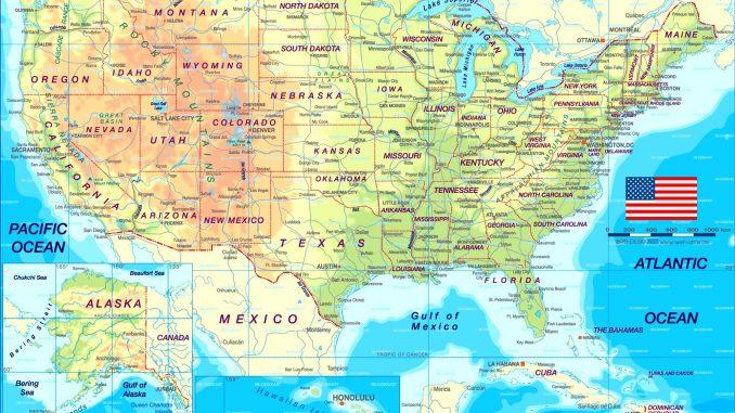 Karten der Vereinigten Staaten von Amerika