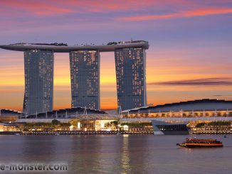 Singapur Marina Bay Sands - Sunset