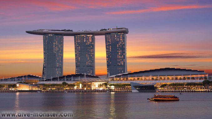 Singapur Marina Bay Sands - Sunset