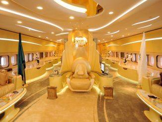 Die Boing 747 eines Saudi Prinz