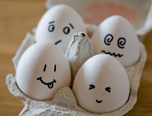 Eiergrößen der Welt