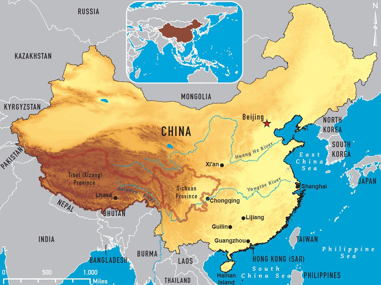 Geografie von china