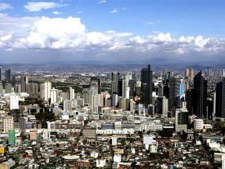 Metro Manila aus der Luft