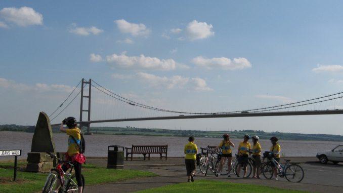 Die Humber Brücke in England