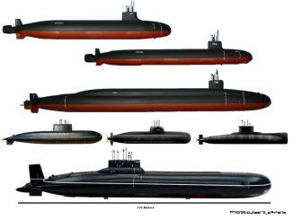 Verschiedene militärische U-Boote