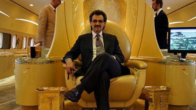 Al-Walid in seinem Privatjet