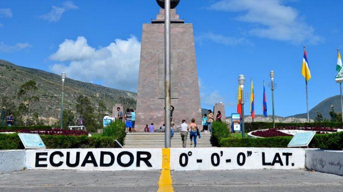 Der Äquator ist überall eine Touristenattraktion
