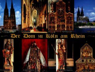 Postkarte vom Kölner Dom