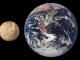 Merkur und Erde im Vergleich