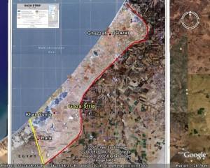 Der Gazasreifen auf Google-Earth