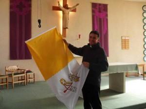 Die offizielle Flagge des Vatikan