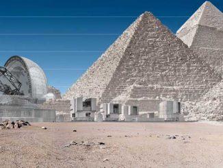 Das größte Teleskop der Welt verglichen mit den Pyramiden von Gizeh