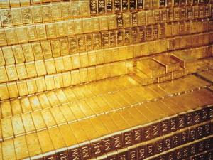 Die Goldbarren in Fort Knox