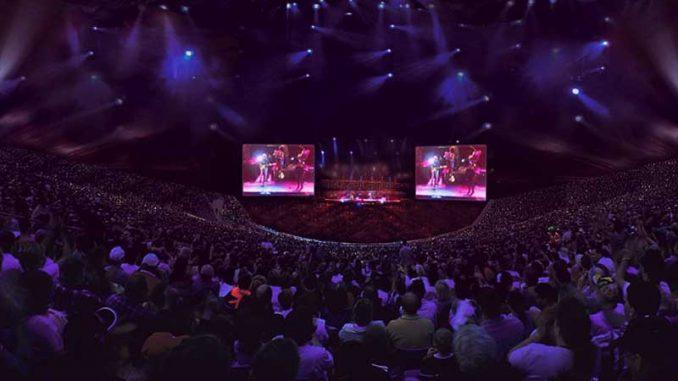 Im Zuschauerraum der Philippine Arena
