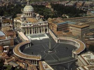 Der Petersplatz ist das Yentrum des Vatikan