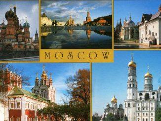 Postkarte aus Moskau