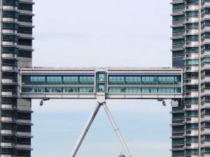 Die Skybridge zwischen den Petronas Twin Towers