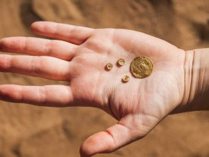 Alte Gold Währung aus Byzanz