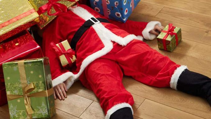 Nach 24 Tagen macht auch der Weihnachtsmann schlapp