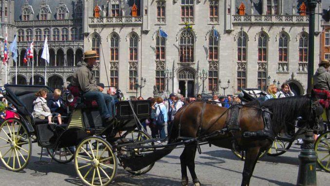 Szene aus Bruegge in Belgien
